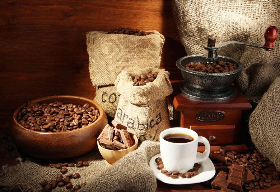 12 verschillende koffiesoorten uitgelegd