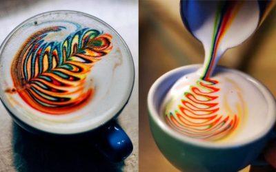 Regenbogen Cappuccino